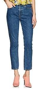 RE/DONE Women's Double Needle Crop Jeans-Blue