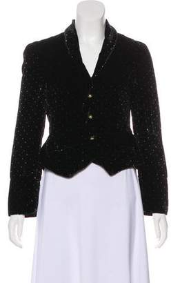 Marc by Marc Jacobs Velvet Polka-Dot Blazer