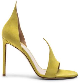 Francesco Russo Flame Heels in Lime | FWRD