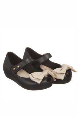 Mini Melissa Jelly Bow Shoes $52.50 thestylecure.com