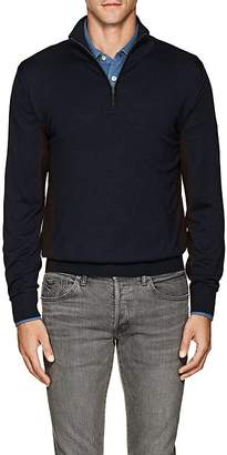 Luciano Barbera Men's Colorblocked Wool-Blend Mock-Turtleneck Sweater