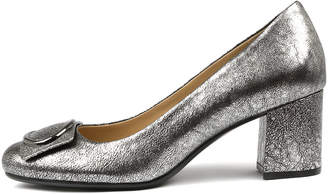 Naturalizer Wright-n Silver metallic Shoes Womens Shoes Comfort Heeled Shoes