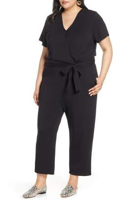 56a77da6587 Halogen Faux Wrap Knit Jumpsuit