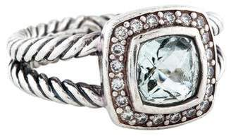 David Yurman Prasiolite & Diamond Petite Albion Ring