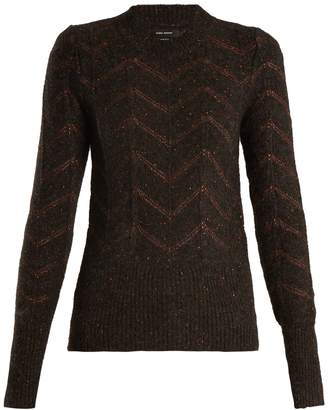 ISABEL MARANT Elson crew-neck zigzag-embroidered sweater