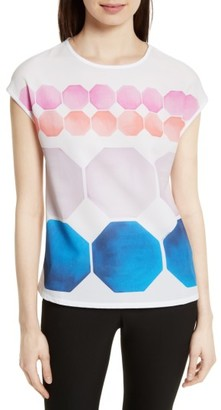 Women's Ted Baker London Rozey Mixed Media Tee $95 thestylecure.com