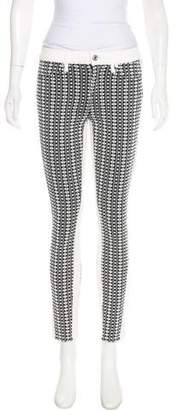 7 For All Mankind Patterned Mid-Rise Skinny Jeans