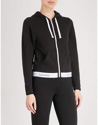 Calvin Klein Modern Cotton zip-up cotton-jersey hoody
