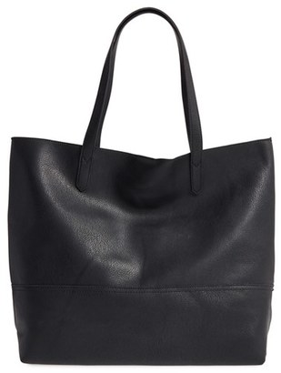 Sole Society Dawson Oversize Faux Leather Shopper - Black $64.95 thestylecure.com