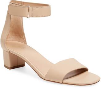 Vince Rita Leather Block Heel Sandal
