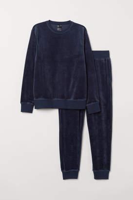 H&M Velour Pajamas - Blue
