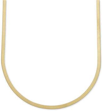 "Italian Gold 22"" Herringbone Chain Necklace in 10k Gold"