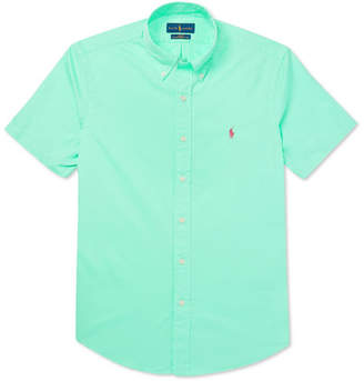 Polo Ralph Lauren Slim-Fit Garment-Dyed Button-Down Collar Cotton-Twill Shirt