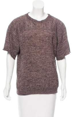 Issey Miyake Raw-Edge Trimmed Knit Top