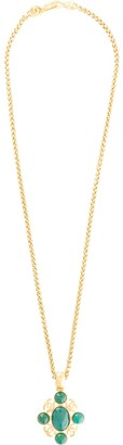Chanel Pre-Owned embellished CC motif necklace