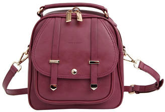 Belle & Bloom Camila Leather Backpack Purple