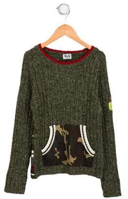 Dolce & Gabbana Boys' Camouflage Knit Sweater