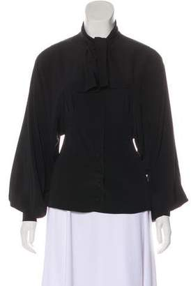 Fendi Tie-Neck Dolman Blouse