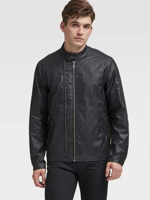 DKNY Coated Moto Jacket
