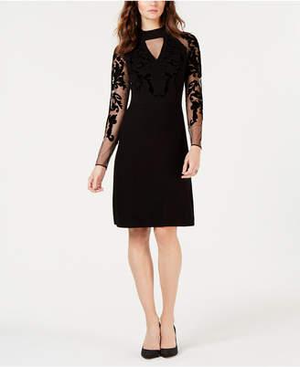 INC International Concepts I.N.C. Flocked-Velvet Sweater Dress, Created for Macy's