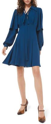 Michael Kors Draped Sleeve Flare Dress
