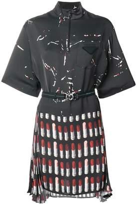 Prada belted Lipstick dress