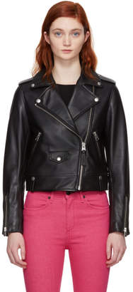 Mackage Black Baya Moto Leather Jacket