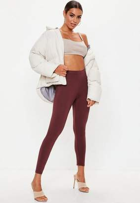 Missguided Brown Full Length Leggings