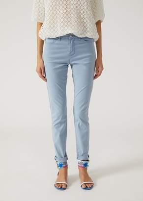 Emporio Armani Super Skinny Trousers In Stretch Fabric