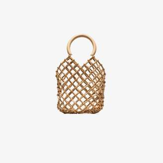 Cult Gaia brown Emmie bamboo net bag