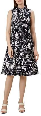 Hobbs London Clarence Palm Print Shirt Dress