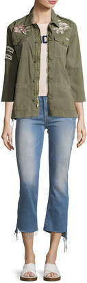 Mother Insider Crop Jeans with Step Fray