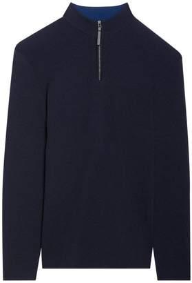 Theory Milos Quarter Zip Wool Sweater