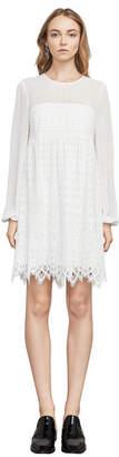 BCBGMAXAZRIA Luann Scallop Lace Dress