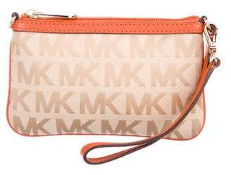 MICHAEL Michael Kors Leather-Trimmed Monogram Wristlet