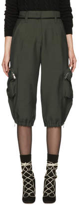 Fendi Green Mohair Cargo Pants