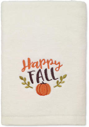 Avanti Last Act! Happy Fall Cotton Embroidered Hand Towel Bedding