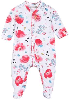 Catimini Baby Girls Jersey Pyjamas With Floral Print