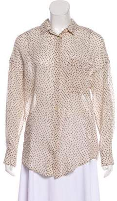 Giada Forte Swiss Dot Floral Top