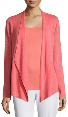 Eileen Fisher Organic Linen Angled Cardigan, Plus Size $238 thestylecure.com