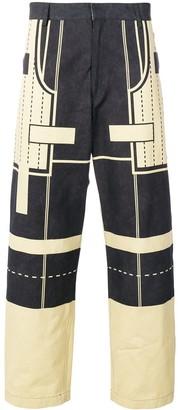 Craig Green geometric print trousers