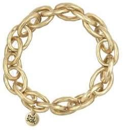 The Sak Goldtone Link Stretch Bracelet