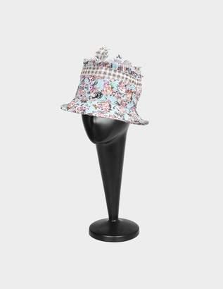 Maison Michel Pleated Flower Gingham Erin Bucket Hat