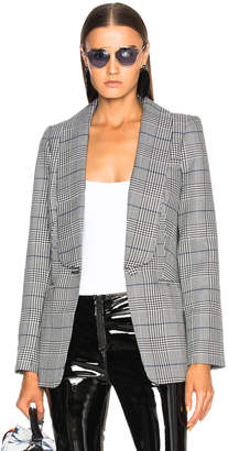 Self-Portrait Woven Check Blazer