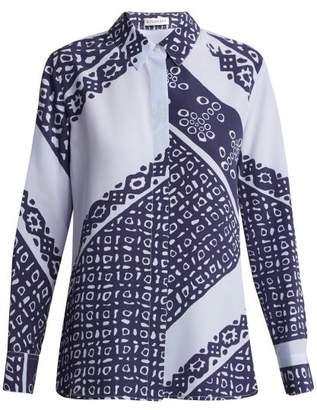 Altuzarra - Chika Bandana Print Silk Shirt - Womens - Blue Print