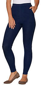 Denim & Co. Petite Pull-on Stretch DenimLeggings