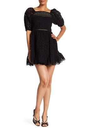 Rebecca Taylor Short Sleeve Eyelet Dress