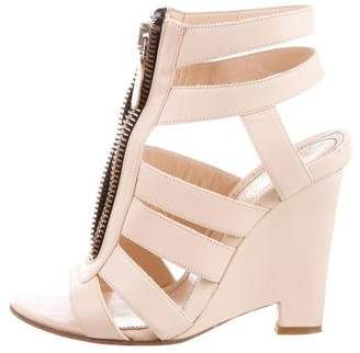 Jerome C. Rousseau Leather Wedge Sandals
