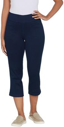 Denim & Co. Smooth Waist Stretch Denim Pull-On Crop Pants