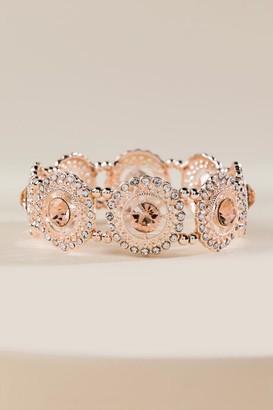 francesca's Angelia Filigree Stretch Bracelet - Rose/Gold